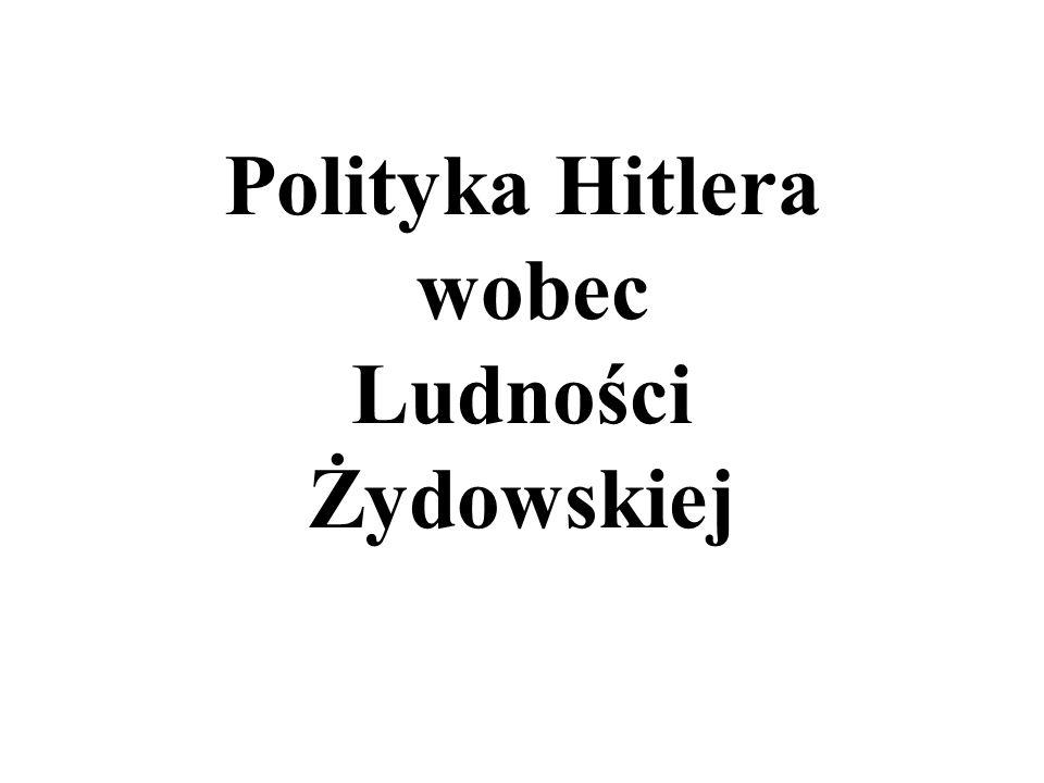Polityka Hitlera wobec Ludności Żydowskiej