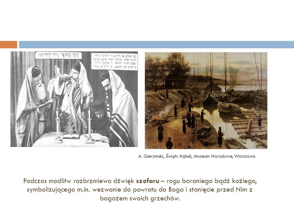 Żydzi nad brzegiem Wisły podczas tzw.taszlich.