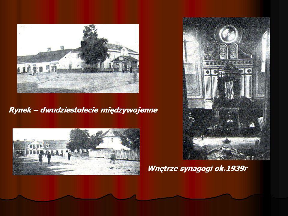 Tych miejsc już nie ma na mapie Synagogi z 1722 roku i 1879 znajdowały się w rynku