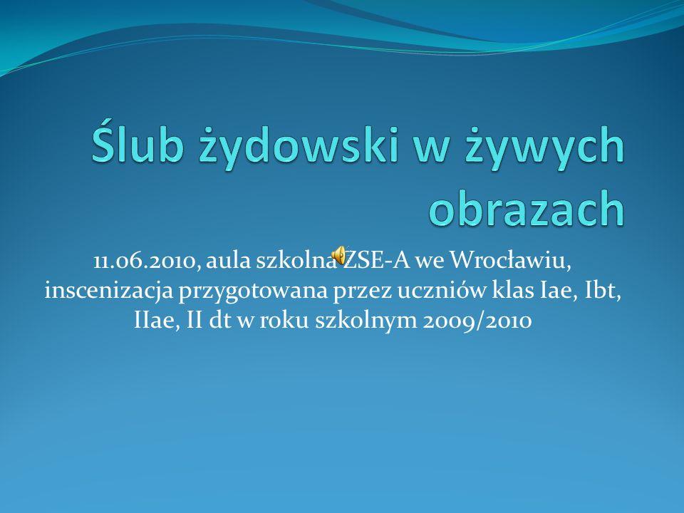 11.06.2010, aula szkolna ZSE-A we Wrocławiu, inscenizacja przygotowana przez uczniów klas Iae, Ibt, IIae, II dt w roku szkolnym 2009/2010