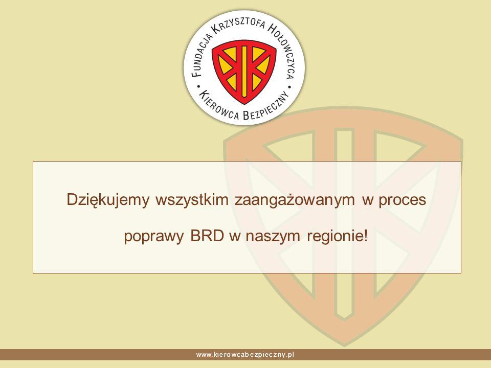 www.kierowcabezpieczny.pl Dziękujemy wszystkim zaangażowanym w proces poprawy BRD w naszym regionie!