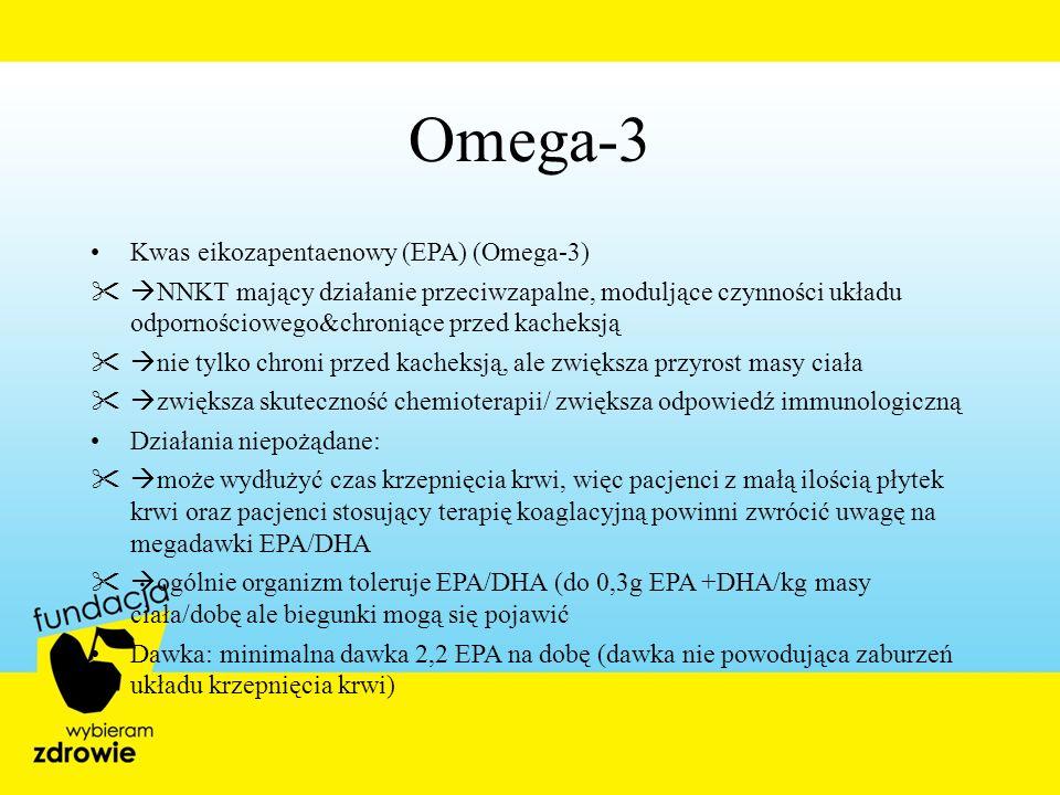 Omega-3 Kwas eikozapentaenowy (EPA) (Omega-3) NNKT mający działanie przeciwzapalne, moduljące czynności układu odpornościowego&chroniące przed kacheks