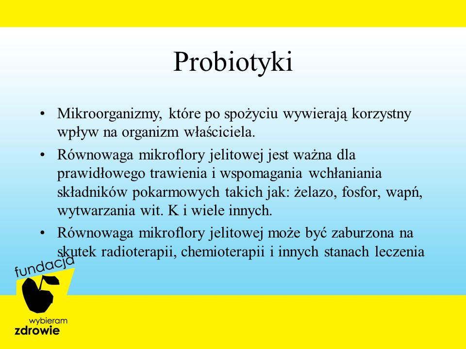 Probiotyki Mikroorganizmy, które po spożyciu wywierają korzystny wpływ na organizm właściciela. Równowaga mikroflory jelitowej jest ważna dla prawidło