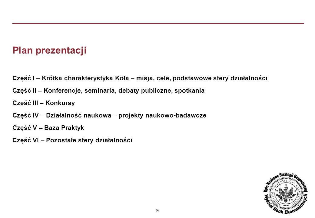 P21 Koło Naukowe Strategii Gospodarczej Uniwersytetu Warszawskiego www.knsg.uw.edu.pl e-mail: knsguw@uw.edu.pl Siedziba: Wydział Nauk Ekonomicznych ul.