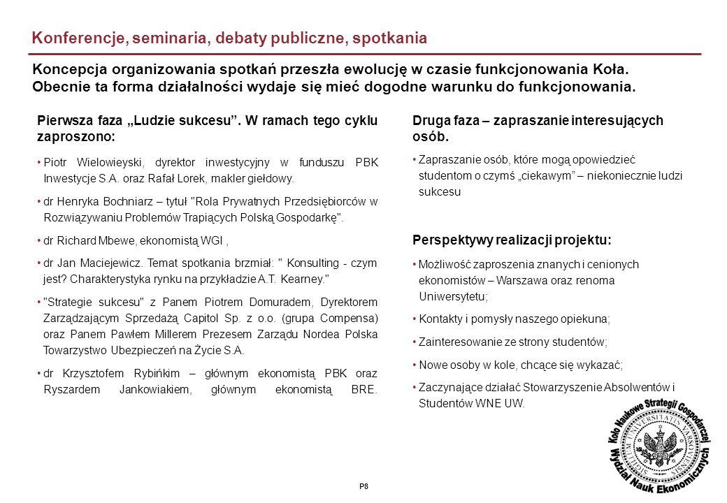 P8 Konferencje, seminaria, debaty publiczne, spotkania Piotr Wielowieyski, dyrektor inwestycyjny w funduszu PBK Inwestycje S.A.