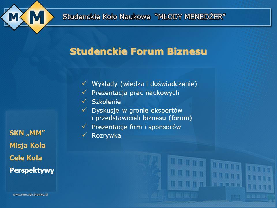 Wykłady (wiedza i doświadczenie) Prezentacja prac naukowych Szkolenie Dyskusje w gronie ekspertów i przedstawicieli biznesu (forum) Prezentacje firm i