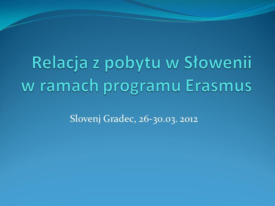 Na kolejnej stronie fragment notatki w języku słoweńskim na stronie internetowej uczelni ( www.sc-sg.si/visja/ ) z mojego pobytu i koleżanek z Litwy.www.sc-sg.si/visja/