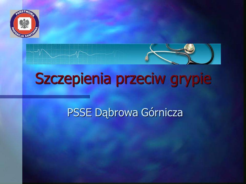 Szczepienia przeciw grypie PSSE Dąbrowa Górnicza