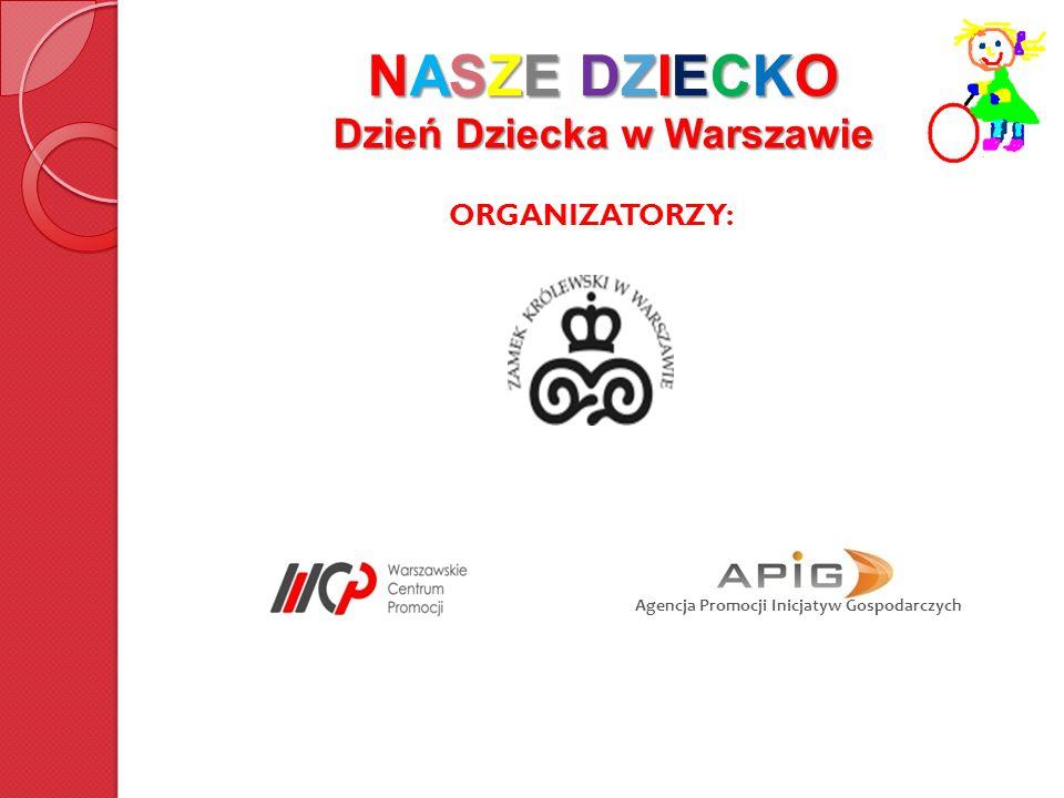 NASZE DZIECKO Dzień Dziecka w Warszawie CEL Organizacja centralnej warszawskiej imprezy w ramach obchodów Dnia Dziecka Dobra zabawa zarówno dla dzieci jak i ich rodziców a przy okazji zaprezentowanie najciekawszych, najbardziej wartościowych produktów dla dzieci oraz edukacja rodziców w przystępnej i lekkiej formie.