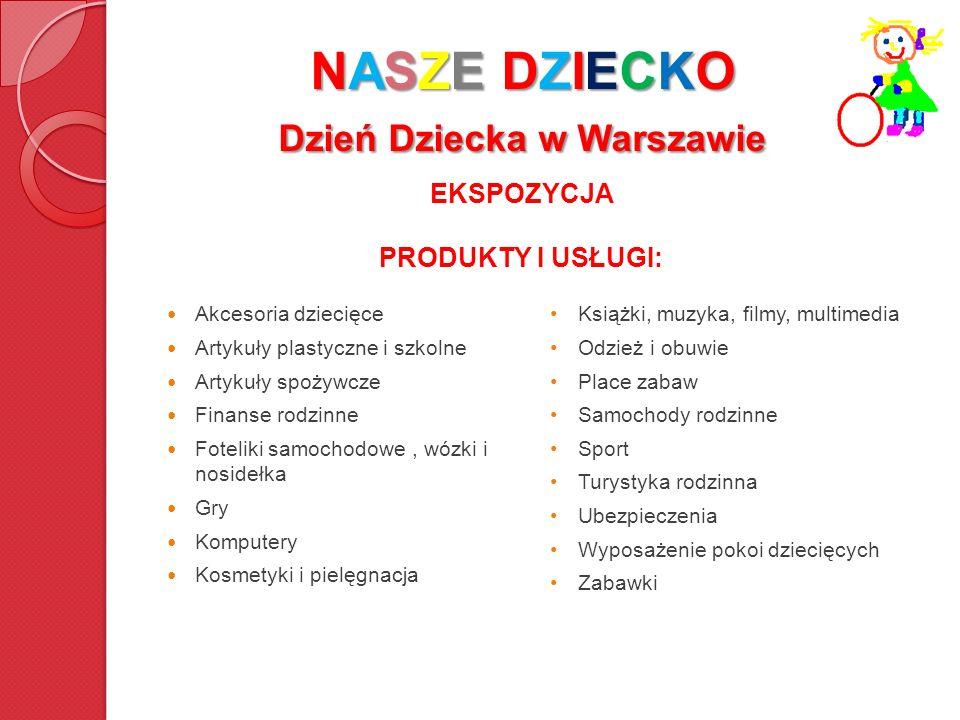 NASZE DZIECKO Dzień Dziecka w Warszawie Akcesoria dziecięce Artykuły plastyczne i szkolne Artykuły spożywcze Finanse rodzinne Foteliki samochodowe, wó