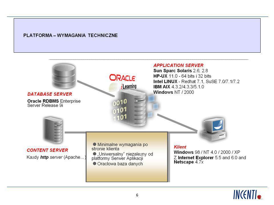 7 USŁUGA E-LEARNING W MODELU ASP DEFINICJA I CHARAKTERYSTYKA USŁUGI Usługa e-learning oferowana w modelu ASP (Application Service Provider ) – to dzierżawa platformy e-learning, szkoleń elektronicznych oraz usług dodanych za stałe opłaty miesięczne, bez konieczności ponoszenia wstępnych inwestycji przez Klienta,