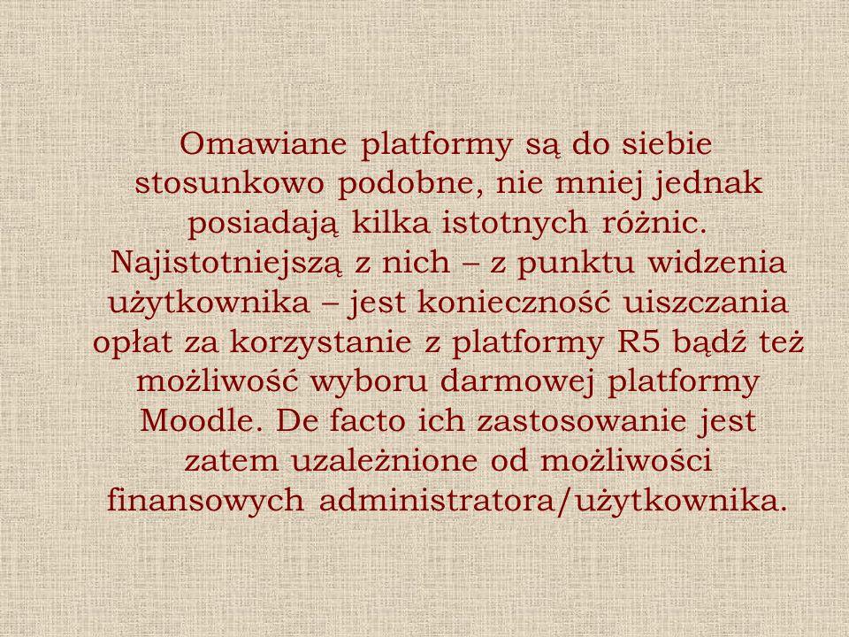 Omawiane platformy są do siebie stosunkowo podobne, nie mniej jednak posiadają kilka istotnych różnic. Najistotniejszą z nich – z punktu widzenia użyt