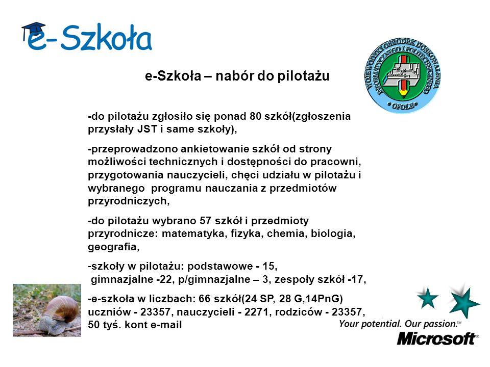 Projekt e-Szkoła – wsparcie systemów informatycznych.