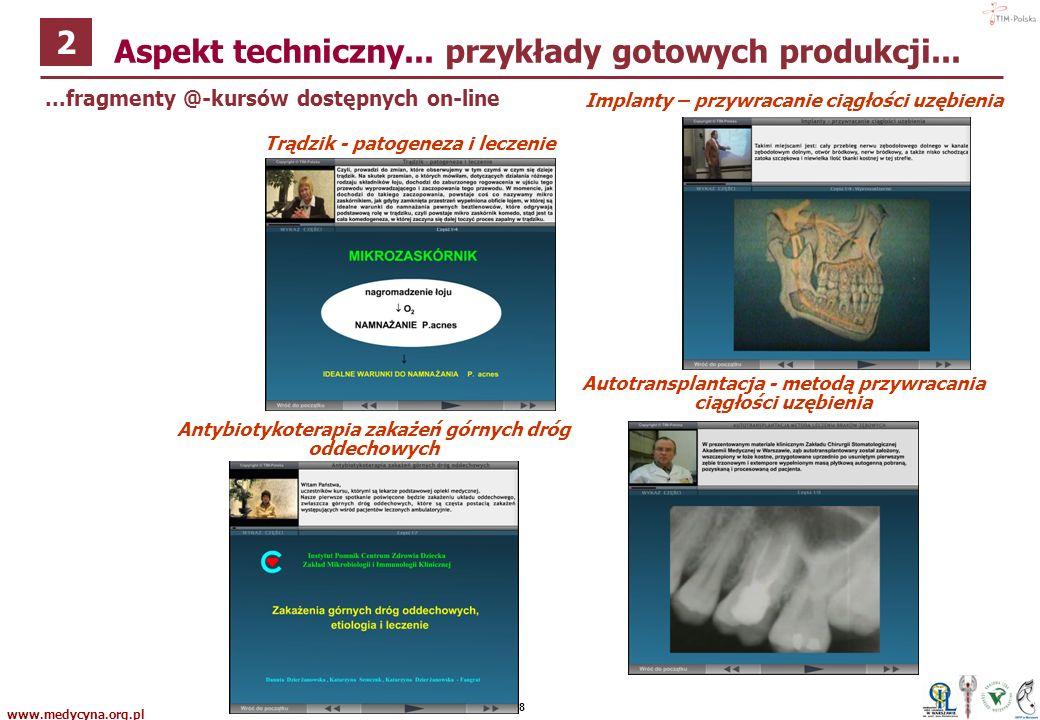 www.medycyna.org.pl P7...okładki @-kursów dostarczanych na CD / DVD Aspekt techniczny...