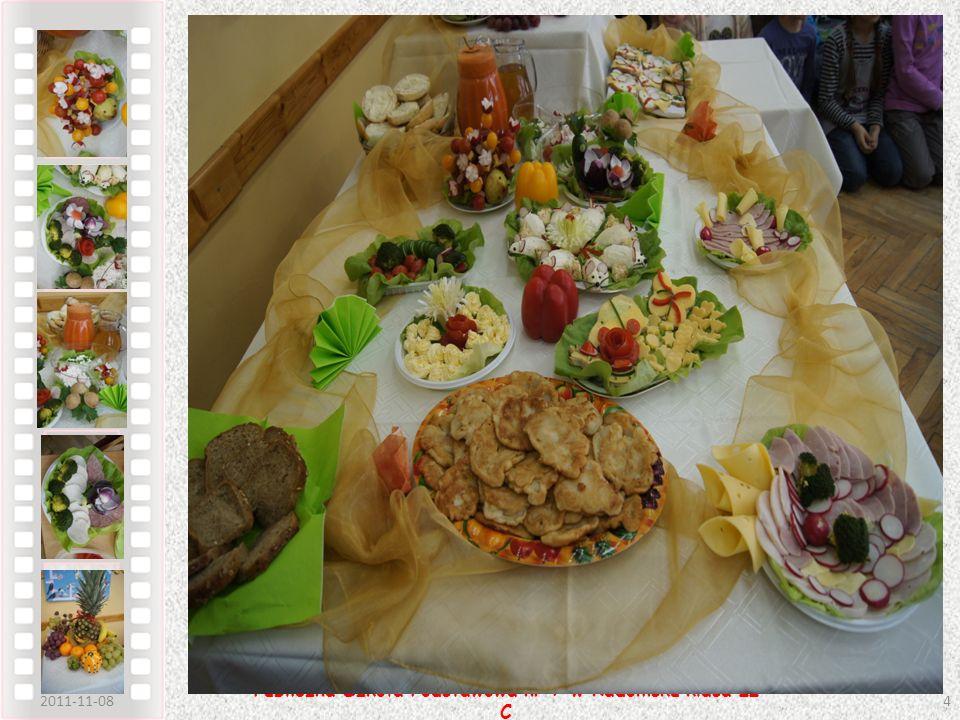 2011-11-085 Publiczna Szkoła Podstawowa nr 7 w Radomsku klasa II C Dzięki tak zaserwowanemu śniadaniu uczniowie mogli sami ułożyć pełny posiłek z uwzględnieniem własnych upodobań kulinarnych i dietetycznych.