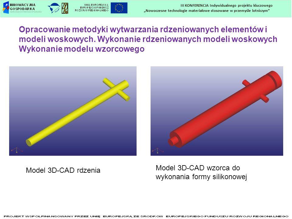 Nowoczesne technologie materiałowe stosowane w przemyśle lotniczym III KONFERENCJA Indywidualnego projektu kluczowego Opracowanie metodyki wytwarzania