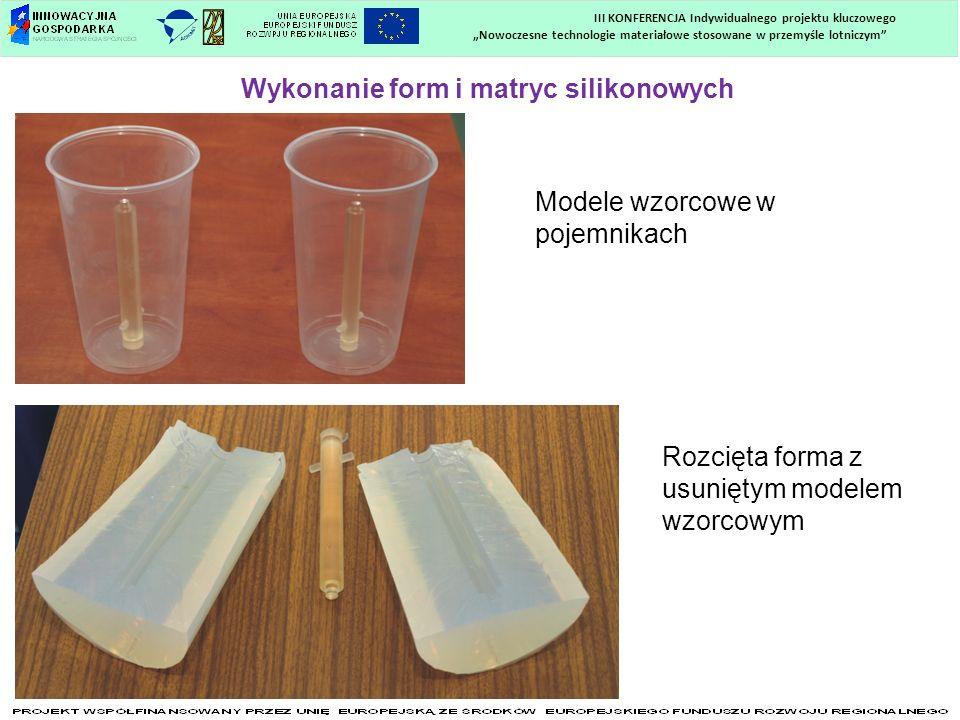 Nowoczesne technologie materiałowe stosowane w przemyśle lotniczym III KONFERENCJA Indywidualnego projektu kluczowego Wykonanie form i matryc silikono