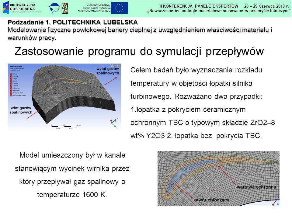 Podzadanie 1. POLITECHNIKA LUBELSKA Modelowanie fizyczne powłokowej bariery cieplnej z uwzględnieniem właściwości materiału i warunków pracy. Zastosow