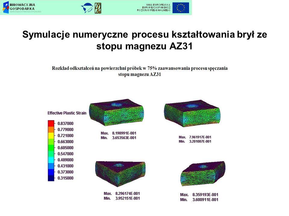 Symulacje numeryczne procesu kształtowania brył ze stopu magnezu AZ31