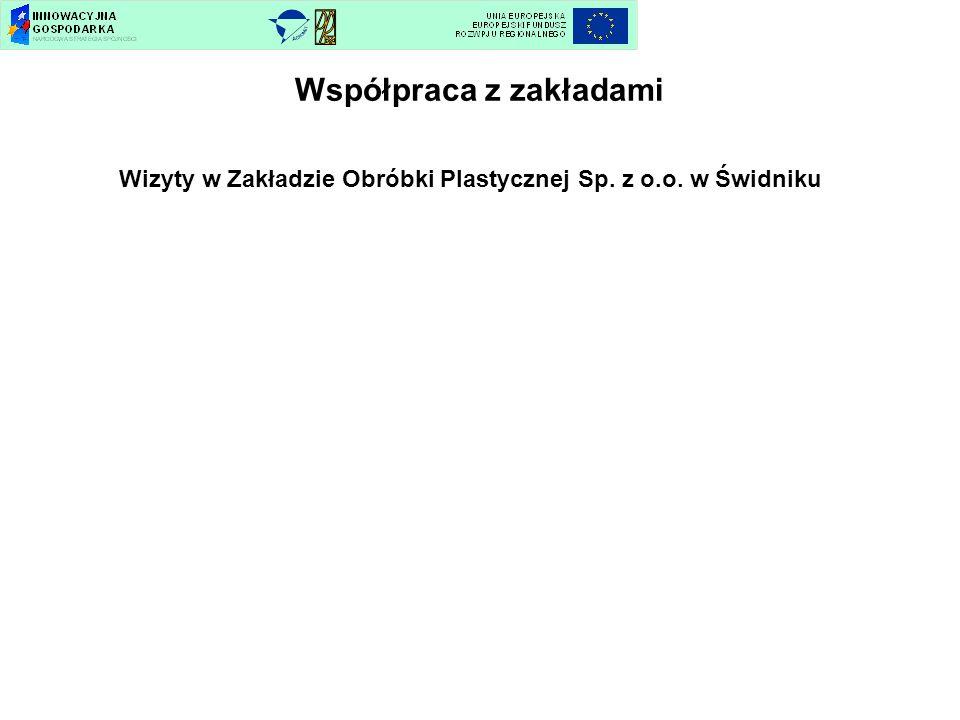 Współpraca z zakładami Wizyty w Zakładzie Obróbki Plastycznej Sp. z o.o. w Świdniku