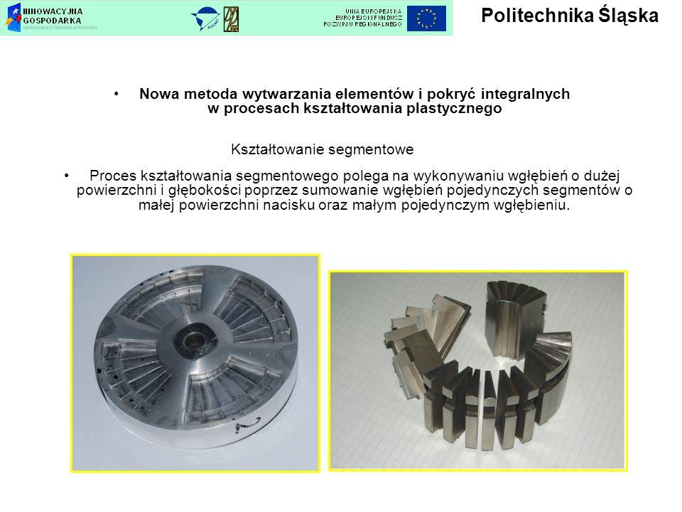 Nowa metoda wytwarzania elementów i pokryć integralnych w procesach kształtowania plastycznego Kształtowanie segmentowe Proces kształtowania segmentow