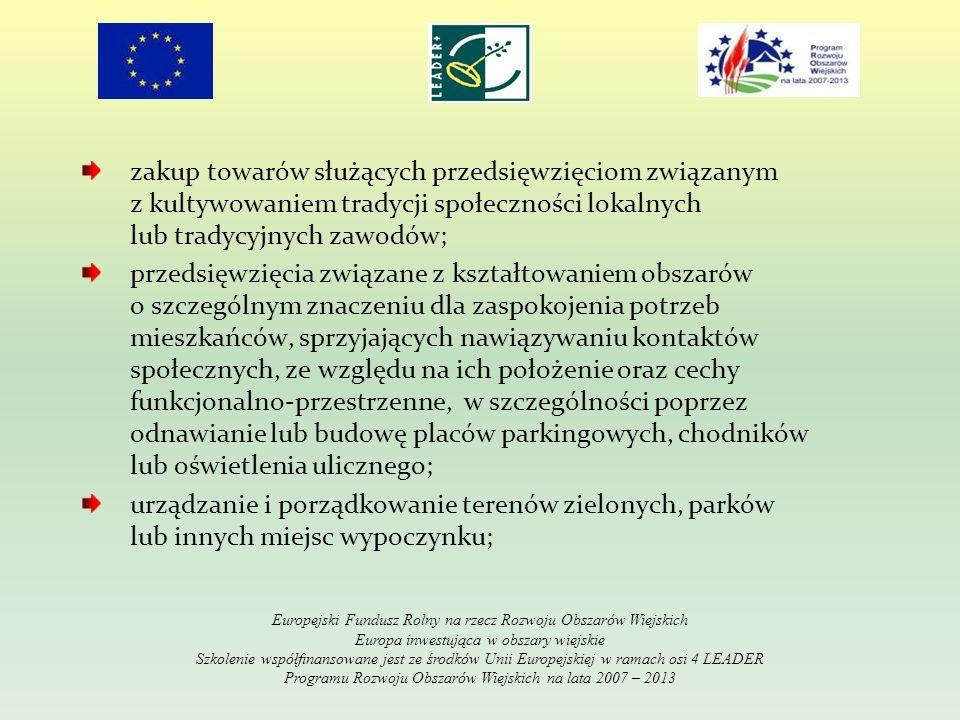 Zasady realizacji i rozliczenia projektu: 1.