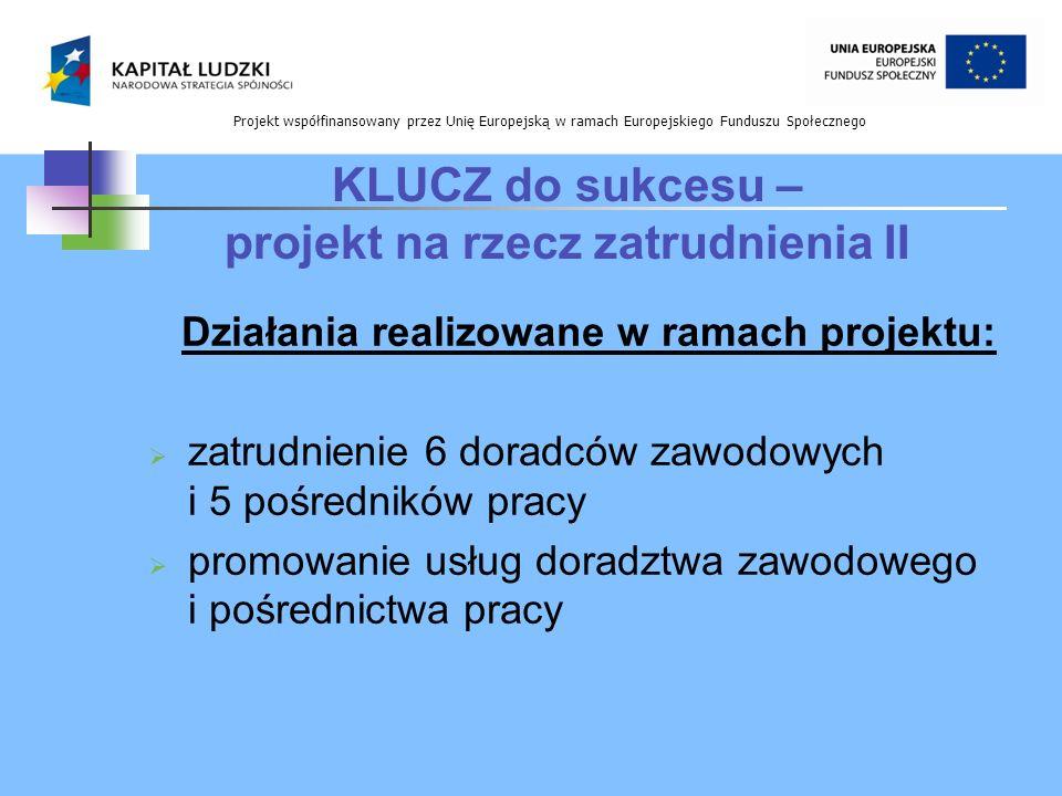 Projekt współfinansowany przez Unię Europejską w ramach Europejskiego Funduszu Społecznego Okres realizacji projektu: 01.01.2010r.