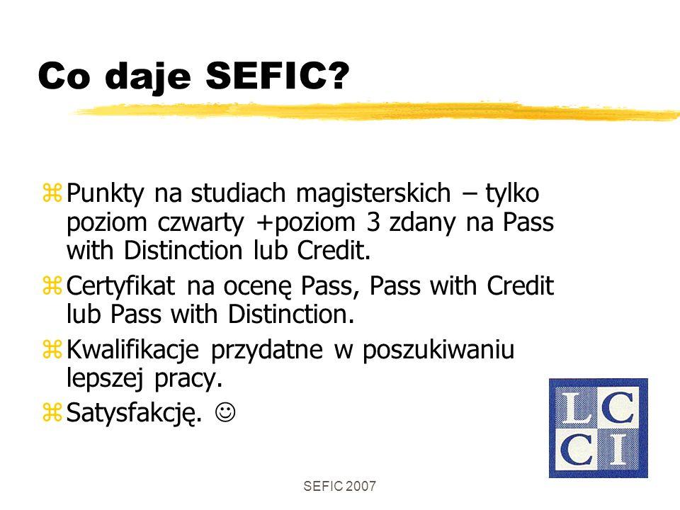 SEFIC 2007 Co daje SEFIC.