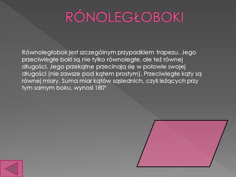 Prostokąt – To czworokąt, który ma wszystkie wewnętrzne kąty proste (stąd również jego nazwa).