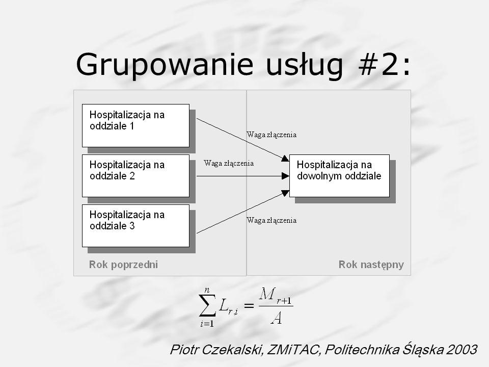 Piotr Czekalski, ZMiTAC, Politechnika Śląska 2003 Grupowanie usług #2: