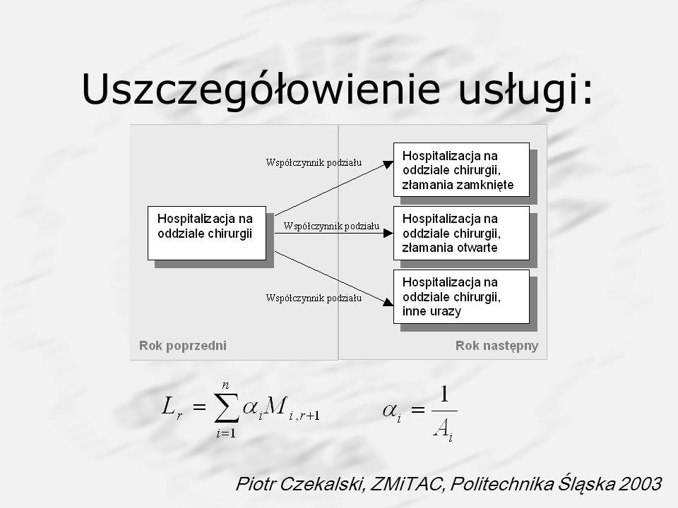 Piotr Czekalski, ZMiTAC, Politechnika Śląska 2003 Uszczegółowienie usługi: