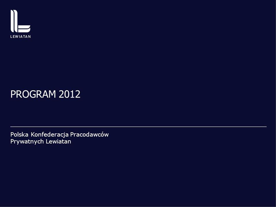 PROGRAM 2012 Polska Konfederacja Pracodawców Prywatnych Lewiatan