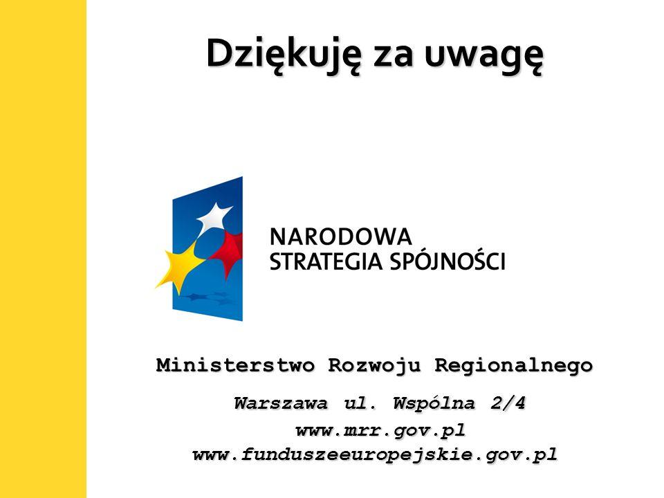 19 Dziękuję za uwagę Ministerstwo Rozwoju Regionalnego Warszawa ul. Wspólna 2/4 www.mrr.gov.pl www.funduszeeuropejskie.gov.pl