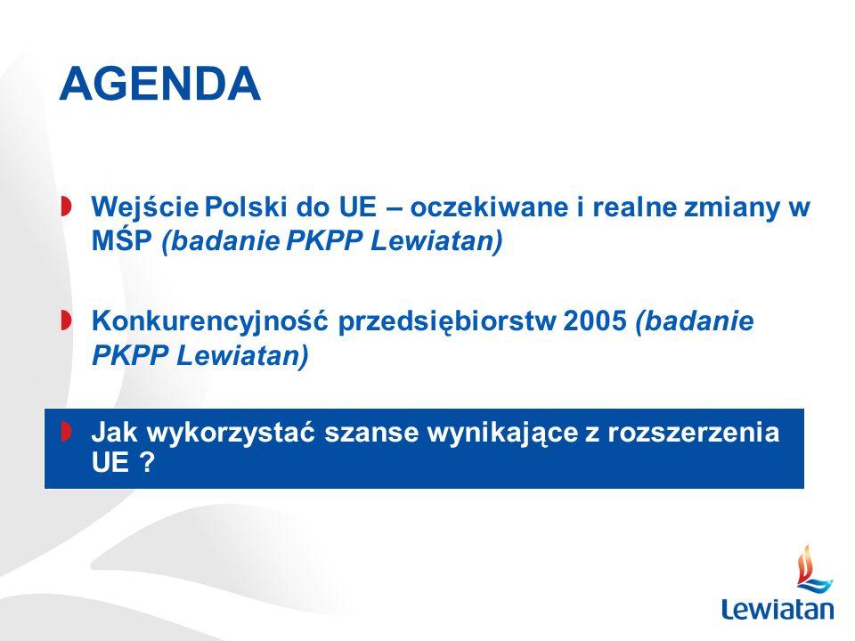 Wejście Polski do UE – oczekiwane i realne zmiany w MŚP (badanie PKPP Lewiatan) Konkurencyjność przedsiębiorstw 2005 (badanie PKPP Lewiatan) Jak wykor