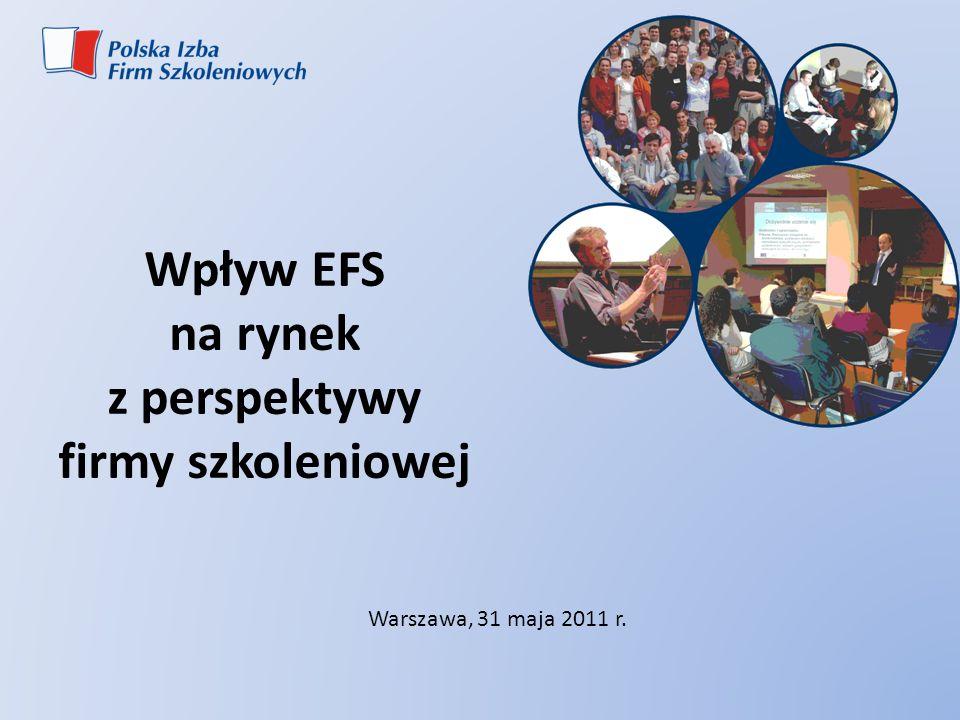Wpływ EFS na rynek z perspektywy firmy szkoleniowej Warszawa, 31 maja 2011 r.