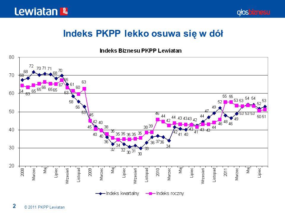 13 Pierwsze oznaki załamania popytu zagranicznego © 2011 PKPP Lewiatan