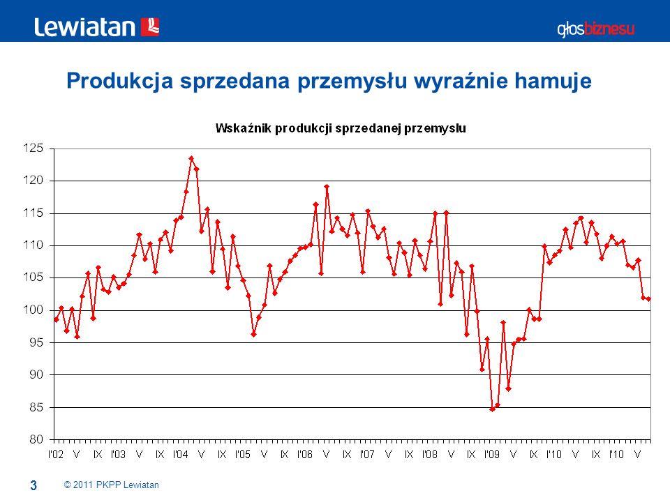 3 Produkcja sprzedana przemysłu wyraźnie hamuje © 2011 PKPP Lewiatan