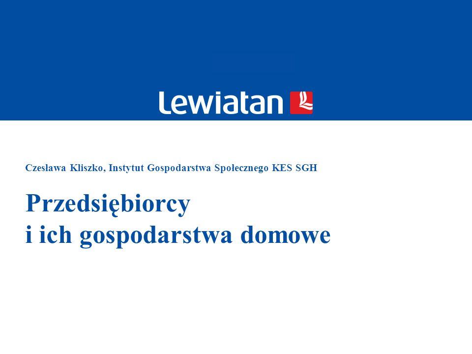 Czesława Kliszko, Instytut Gospodarstwa Społecznego KES SGH Przedsiębiorcy i ich gospodarstwa domowe