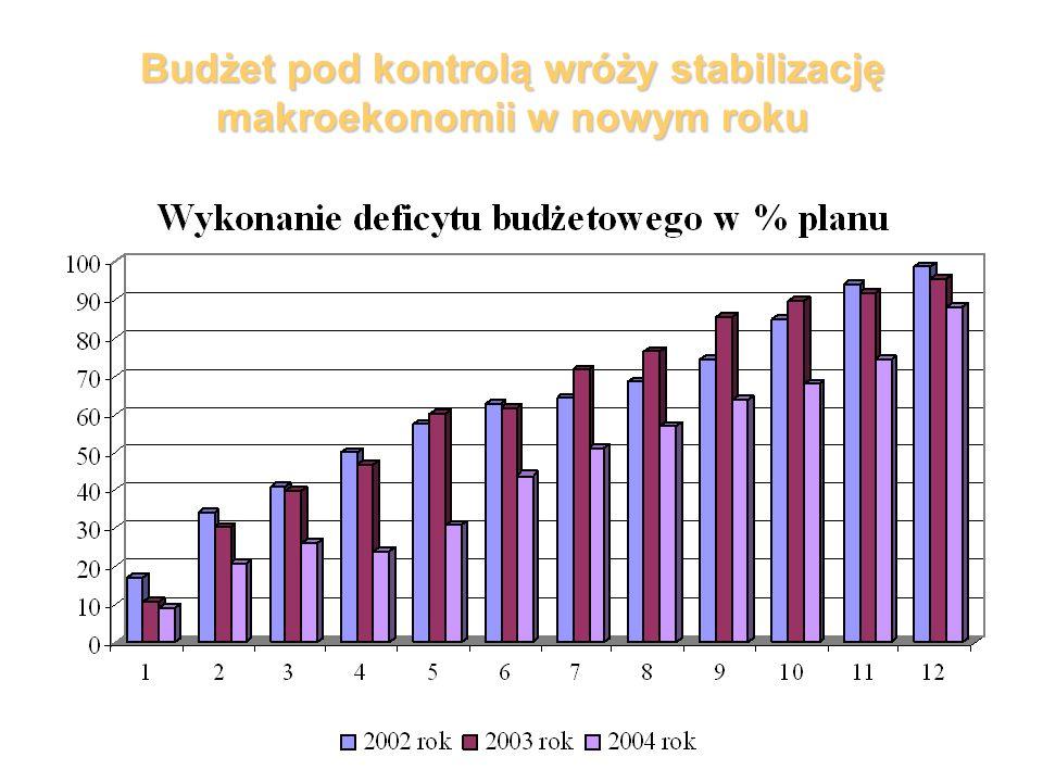 Budżet pod kontrolą wróży stabilizację makroekonomii w nowym roku