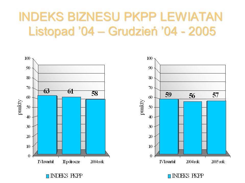 INDEKS BIZNESU PKPP LEWIATAN Listopad 04 – Grudzień 04 - 2005
