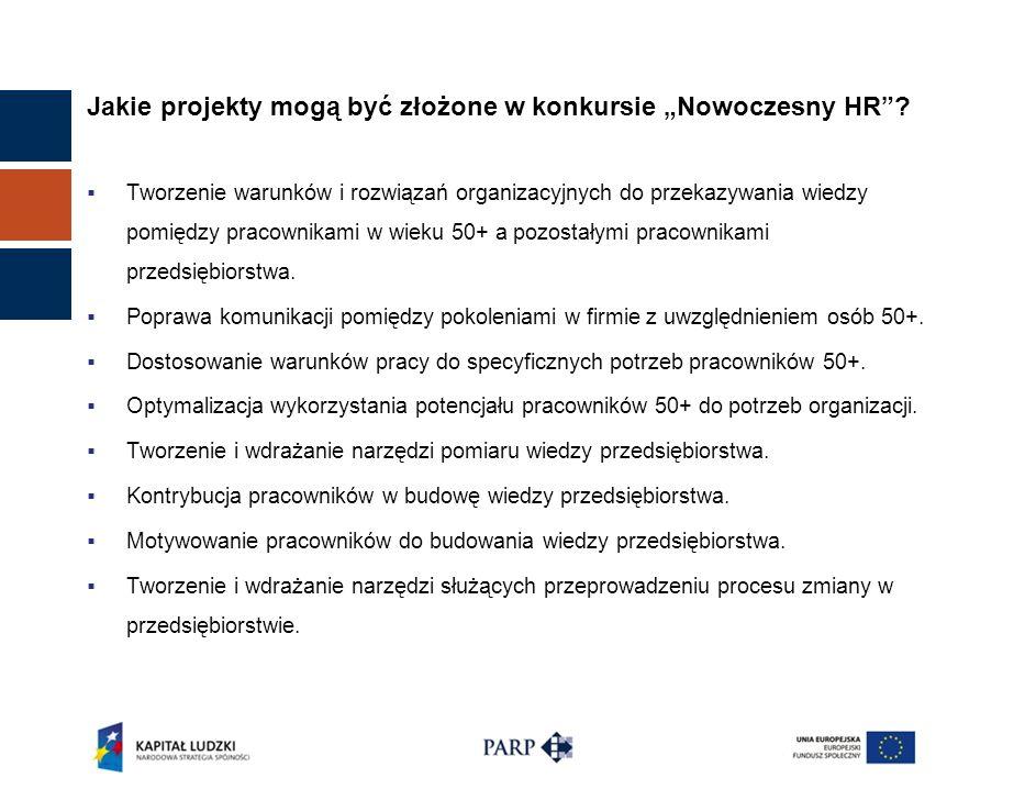 Jakie projekty mogą być złożone w konkursie Nowoczesny HR? Tworzenie warunków i rozwiązań organizacyjnych do przekazywania wiedzy pomiędzy pracownikam