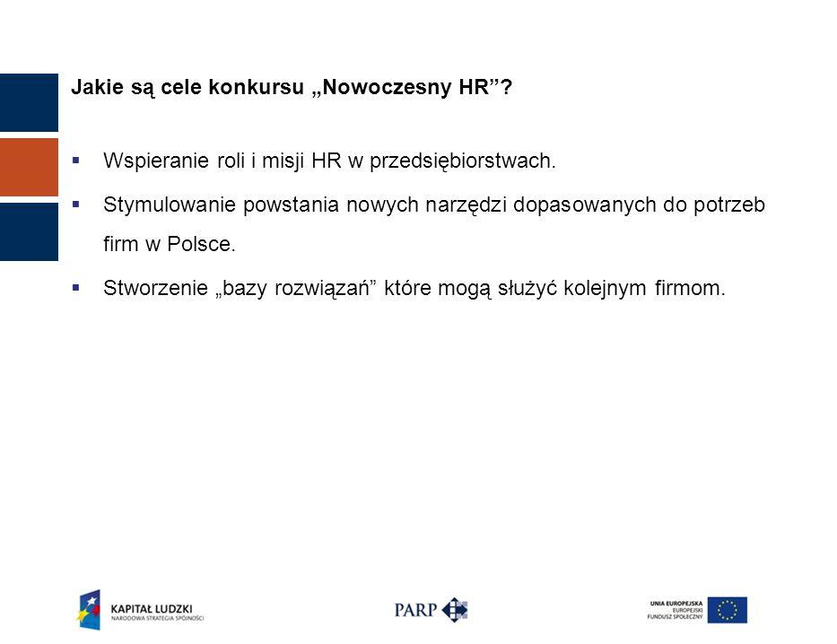 Jakie są cele konkursu Nowoczesny HR.Wspieranie roli i misji HR w przedsiębiorstwach.
