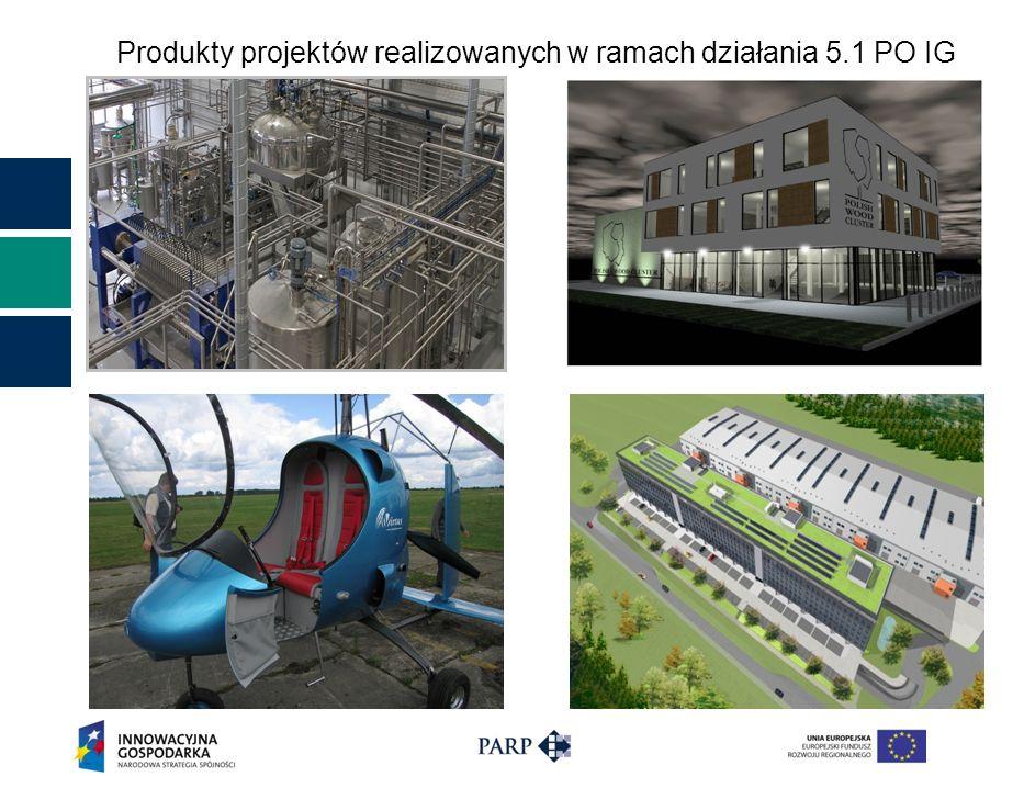 Produkty projektów realizowanych w ramach działania 5.1 PO IG