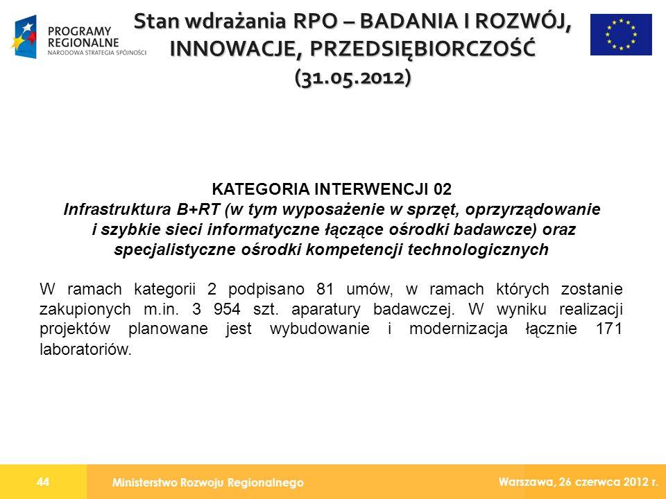 Ministerstwo Rozwoju Regionalnego 44 Warszawa, 26 czerwca 2012 r.