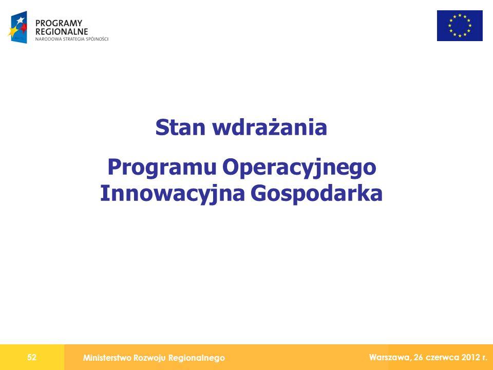 Ministerstwo Rozwoju Regionalnego 52 Warszawa, 26 czerwca 2012 r.