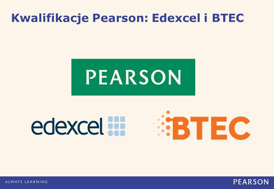 Kwalifikacje Pearson: Edexcel i BTEC