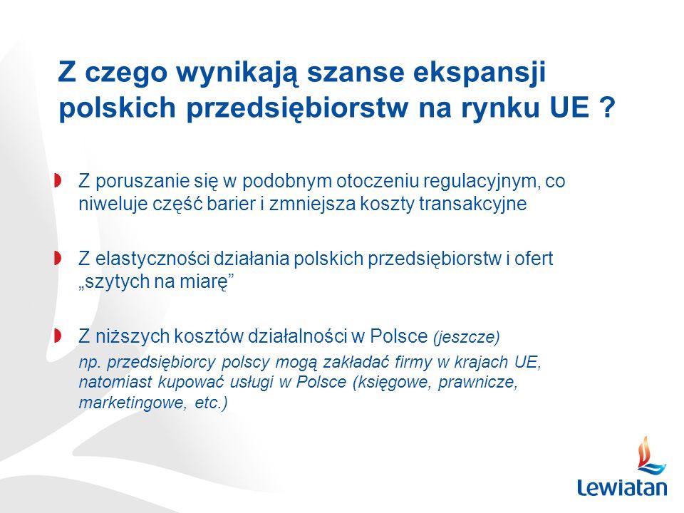 Dlaczego MŚP widzą swoją szansę w budowaniu działalności gospodarczej poza Polską ?