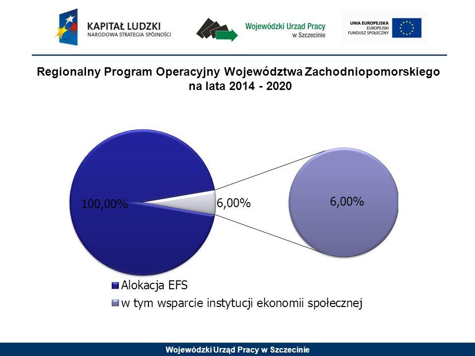 Wojewódzki Urząd Pracy w Szczecinie Regionalny Program Operacyjny Województwa Zachodniopomorskiego na lata 2014 - 2020