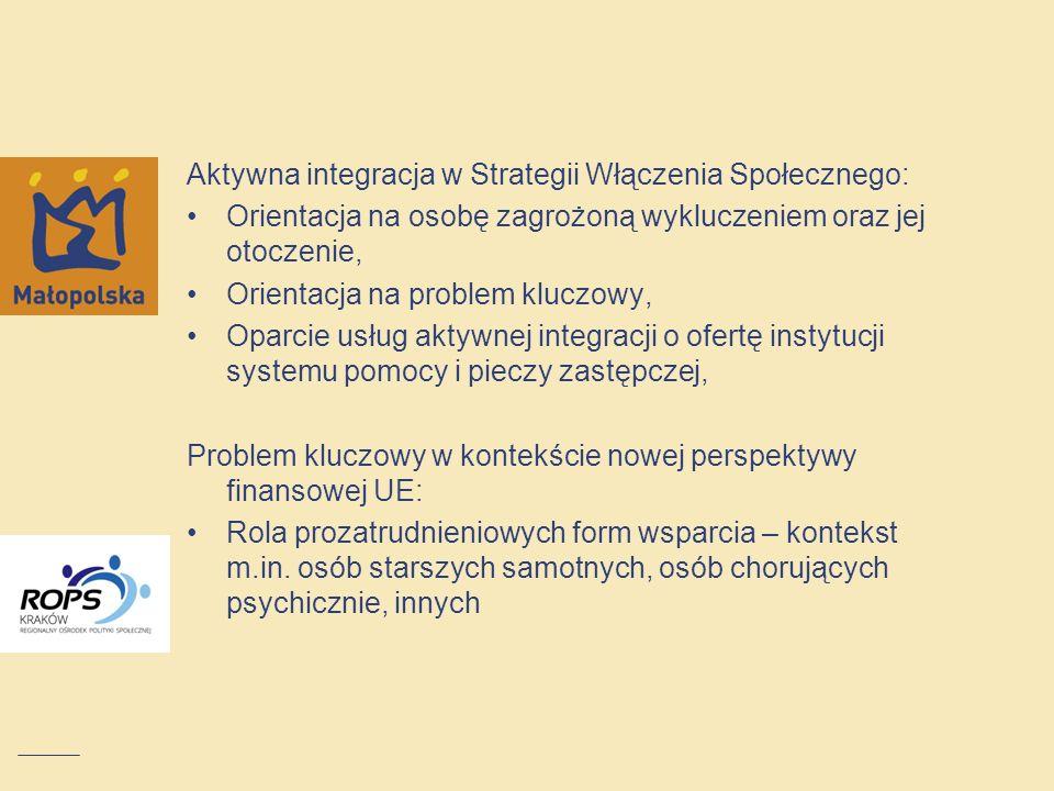 Aktywna integracja w Strategii Włączenia Społecznego: Orientacja na osobę zagrożoną wykluczeniem oraz jej otoczenie, Orientacja na problem kluczowy, O