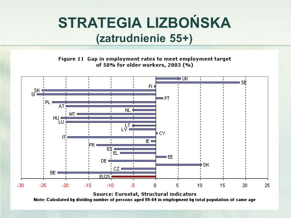 5 PRZEGLĄD EUROPEJSKIEGO RYNKU PRACY UE Źródło: European Commission, Employment in Europie 2006